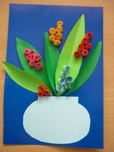 Mother's day craft idea for kids Craft Activities For Kids, Crafts For Kids, Arts And Crafts, Origami, Puppet Crafts, Spring Art, Mothers Day Crafts, Mother And Father, Paper Quilling