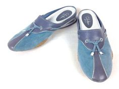 COLE-HAAN-Shoes-SUEDE-Blue-NIKE-AIR-Slip-On-ATHLETIC-Slides-WOMENS-Casual-10-B