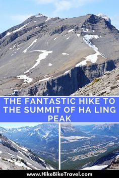 The Fantastic Hike to the Summit of Ha Ling Peak – Hike Bike Travel – Typical Miracle Lac Louise, Hiking Trails, Hiking Gear, Hiking Boots, Alberta Travel, Road Trip, Canada Destinations, Glacier, Visit Canada