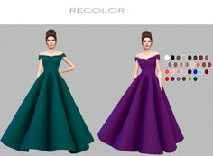 Castle Dress recolors at Simply Simming • Sims 4 Updates