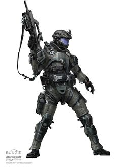 ODST concept art. The head is too small. you could'nt fit your head in that helmet. -I NEED a drawing tablet..