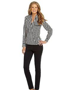 Ali & Kris stripe #blouse at Dillard's