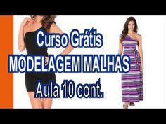Curso Grátis - Modelagem Malhas - Aula 9 (molde de vestido só no overlock) - YouTube Youtube, Sewing Patterns, Cross Stitch, Fitness, Blog, Style, Tips, Pattern Sewing, Sewing Tips