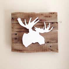 Moose Head 3D Silhouette Sign from Reclaimed by RedBearRustics
