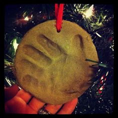 britt & her boys: Christmas Cinnamon ornaments handprints