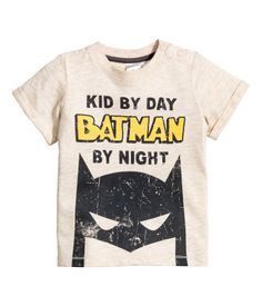Camiseta con estampado   Beige   Niños   H&M MX