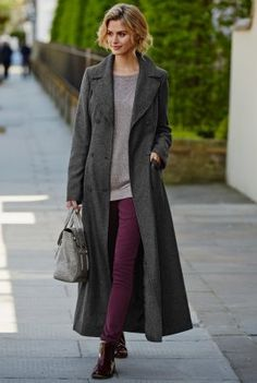Double Breasted Textured Maxi Coat