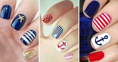 Uñas Nauticas, mas de 40 ejemplos - Nautical Nails - http://xn--decorandouas-jhb.net/unas-nauticas-mas-de-40-ejemplos-nautical-nails/