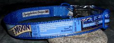 Adjustable Dog Collar from Blue Moon Brewing Belgian White beer labels by squigglechick, $23.00