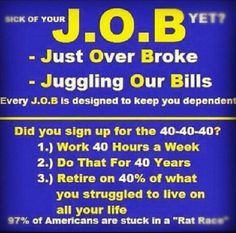 You know how most people are tired of building the dreams of other people? I help them get free from the bonds of their J.O.B.s and build their own dreams. http://BYOB-BE-YOUR-OWN-BOSS.com