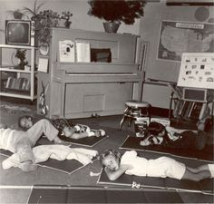 Nap Time In kindergarten. We had graham crackers and milk and then a little nap.  Such a sweet time.