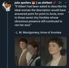 Anne with an e temporada Shirbert Gilbert And Anne, Gilbert Blythe, Anne With An E, Anne Shirley, E 3, Kindred Spirits, Pride And Prejudice, Period Dramas, Series Movies