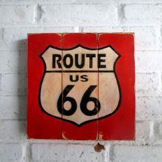 Rute Siksti siks  Spray stencil on wood. 30 x 30 x 2 cm  #woodsign #homedecoration #homeandliving #vintage #alldecos #route66