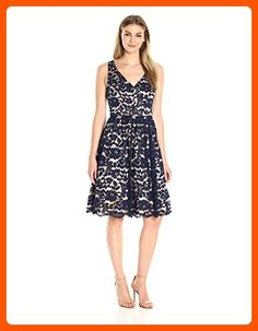 Eliza J Women's Lace Fit and Flare, Navy, 10 - All about women (*Amazon Partner-Link)