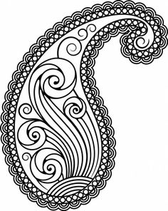 Stylish paisley use - pattern for coloring, embroidery and Paisley Drawing, Paisley Stencil, Paisley Art, Paisley Design, Paisley Pattern, Pattern Art, Paisley Doodle, Dot Art Painting, Fabric Painting