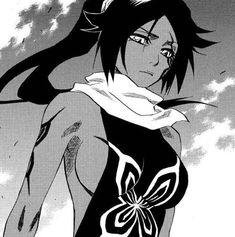 Yoruichi Shihoin from Bleach Bleach Manga, Bleach Art, Yandere Manga, Manga Anime, Anime Art, Black Anime Characters, Bleach Characters, Manga Drawing, Manga Art
