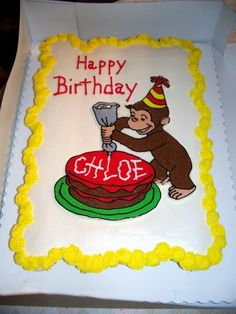 curious george + birthday cakes | Curious George — Children's Birthday Cakes