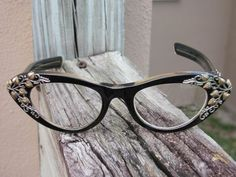 Schiaparelli Ivy Vine Design Cats Eye Eyeglasses, circa 1950