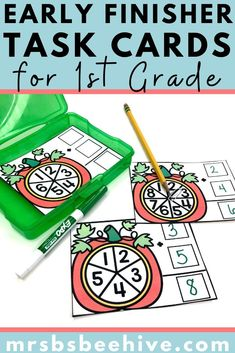 Give your students early finisher activities that are engaging and educational.  These task cards are meant to be done independently to help free up your teacher time for those students who need assistance!Help students increase sight word recognition with these kindergarten task cards.