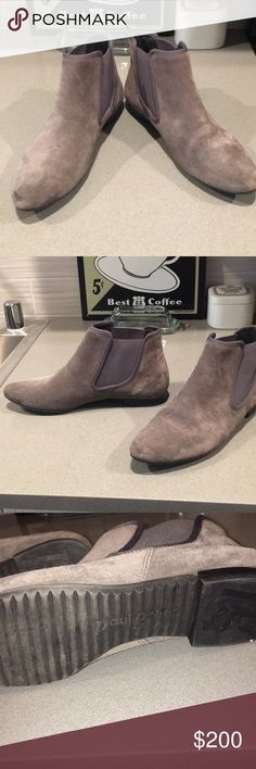Paul Green Booties Grey Paul Green Booties. Suede excellent condition. If you know Paul Green sizes. These are 6 1/2 UK so they will be size 8 1/2 - 9 shoe in women's. Paul Green Shoes Ankle Boots & Booties