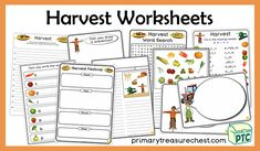 A great selection of Harvest themed worksheets & activities to download for the Foundation Phase - Early Years -  KS1 - kindergarten - Pre-School Primary Resources, Teaching Resources, Teaching Ideas, Worksheets, Harvest, You Draw, Pre School, Activities, Kindergarten
