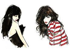Fashion illustration, by Vita Yang