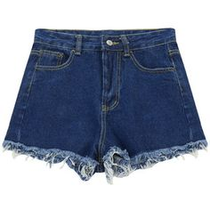 Chicnova Fashion Denim Short in Dark Wash Blue