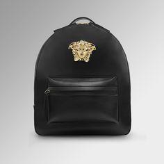 Sleek allure. Discover more #VersacePalazzo backpacks on versace.com
