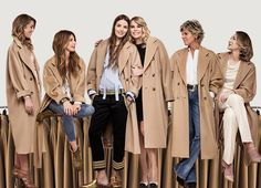 Six pairs of super stylish, real-life women show how they'd wear Max Mara's iconic 101801 coat.