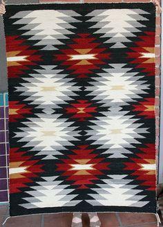 Fine Navajo Rug Ganado - Snowflake x Native American Rugs, American Indian Art, Native American Beading, Navajo Weaving, Navajo Rugs, Hand Weaving, Native Design, Textile Art, Textile Design