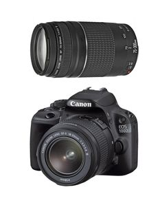 EOS 100D Black SLR Camera DC Kit: EF-S 18-55mm and 75-300mm Lens with 18 Megapixel Digital Camera with FREE Canon Starter Bundle, http://www.very.co.uk/canon-eos-100d-black-slr-camera-dc-kit-ef-s-18-55mm-and-75-300mm-lens-with-18-megapixel-digital-camera-