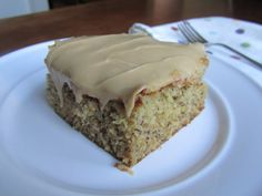 Loaves n Dishes: PEANUT BUTTER & BANANA CAKE with PEANUT BUTTER & HONEY FROSTING