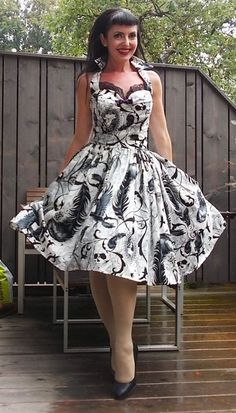 Hey, I found this really awesome Etsy listing at https://www.etsy.com/listing/205538277/pinup-dress-raven-rockabilly-goth-dress