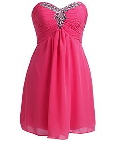 Fnina Womens 2016 Short Sweetheart Bridesmaid Dresses Formal Gown Size 2 Fuchsia ** To view further for this item, visit the image link.