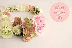 Floral crown DIY! an easy step by step craft tutorial to create this pastel headpiece..