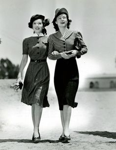 Ann Rutherford & Ruth Hussey.