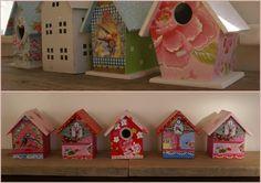 Vogelhuisjes in de stijl van Pip Studio. Gemaakt door Fleurig. Pip Studio, Girls Dream, Gingerbread, Doors, Bird, Outdoor Decor, Cute, Home Decor, Google