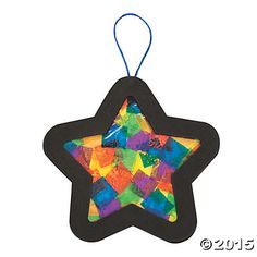 Tissue Paper Star Christmas Ornament Craft Kit You'll love how the colors play on your tree when you use this Tissue Paper Star Ornament Craft Kit. A great Christmas craft project for you. Preschool Christmas Crafts, Christmas Craft Projects, Handmade Christmas Decorations, Christmas Ornament Crafts, Noel Christmas, Star Ornament, Xmas Crafts, Christmas Crafts With Paper, Christmas Crafts For Toddlers