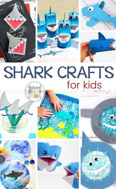 22+ Shark Crafts and Shark Week Crafts for Kids, This page is full of fabulous shark crafts for preschoolers and older kids. Plus, these shark activities make a great addition to any Shark Week lesson plan. You'll also find great Shark Books for Kids and Shark Printables for Kids