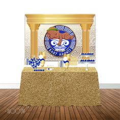 Greek Themed Baby Shower 6x4 Candy Buffet Table Banner Backdrop, Design, Print…