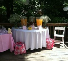 Specialty Martini's, Iced tea/Lemonade, and BGH water was served (in the Lilly Pulitzer cooler bags).
