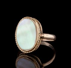 e1f669cf32a If you don t buy this Vintage Mother of Pearl Ring...I will!! Only  450  with matching earrings included. 66mint - Fine Estate Jewelry