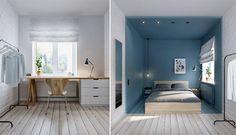 skandinaavinen-sisustus-makuuhuone-sininen