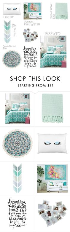 """Dream Bedroom"" by xheartit101 ❤ liked on Polyvore featuring interior, interiors, interior design, home, home decor, interior decorating, Martha Stewart, Surya, Billabong and bedroom"