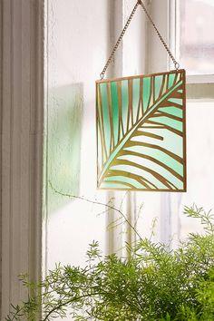 """Slide View: 1: Fensterdeko """"Evony"""" aus Buntglas mit Palmendesign"""