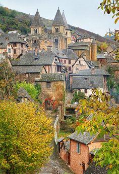 "visitheworld: "" Conques / France (by Jean-Jacques Cordier). """