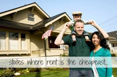 learn which states have the cheapest rent...helpful info for renters, real estate investors, and potential home buyers
