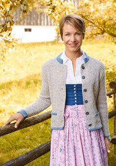 Lana Grossa DAMENJACKE MIT TASCHEN Ascot/Cool Wool Alpaca - TRACHTEN MIT MAGDALENA NEUNER - Modell 13 | FILATI.cc WebShop