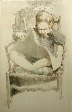 pintura de A. Metcalf (1914-1998)