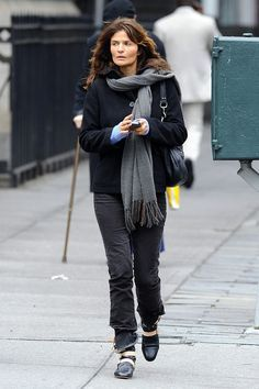 Helena Christensen Billeder - Helena Christensen Kisses Paul Banks i NYC - Zimbio